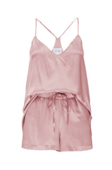 NEW: Silk Tank and Short Set in 'Rose Gold' Silk Charmeuse