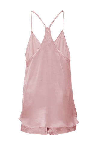 BEST SELLER: Silk Tank and Short Set in 'Rose Gold' Silk Charmeuse