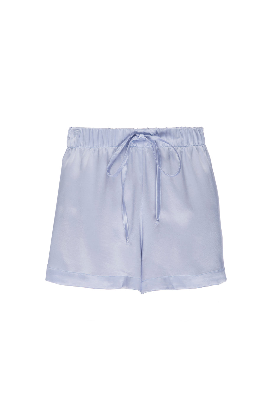 Silk Charmeuse Shorts: Ice Blue