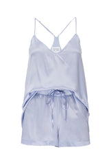 PRE ORDER New: Tank and Short Set in 'Ice Blue' Silk Charmeuse