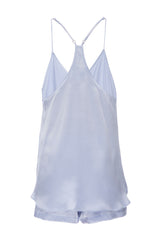 New: Tank and Short Set in 'Ice Blue' Silk Charmeuse