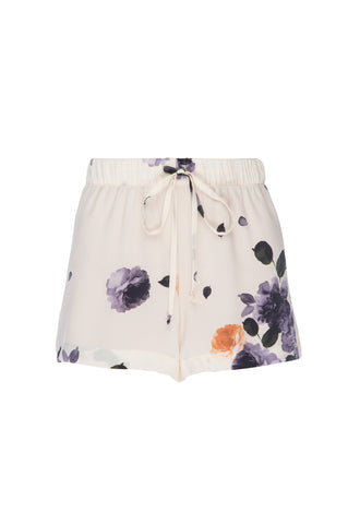"NEW: ""Sammy"" Pajama Short in 'Garden Floral Print' Silk"