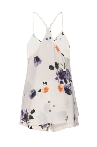 BEST SELLER: Silk Tank and Short Set in 'Garden Floral Print' Silk