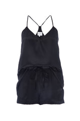 NEW: Tank and Short Set in 'Black' Silk Charmeuse