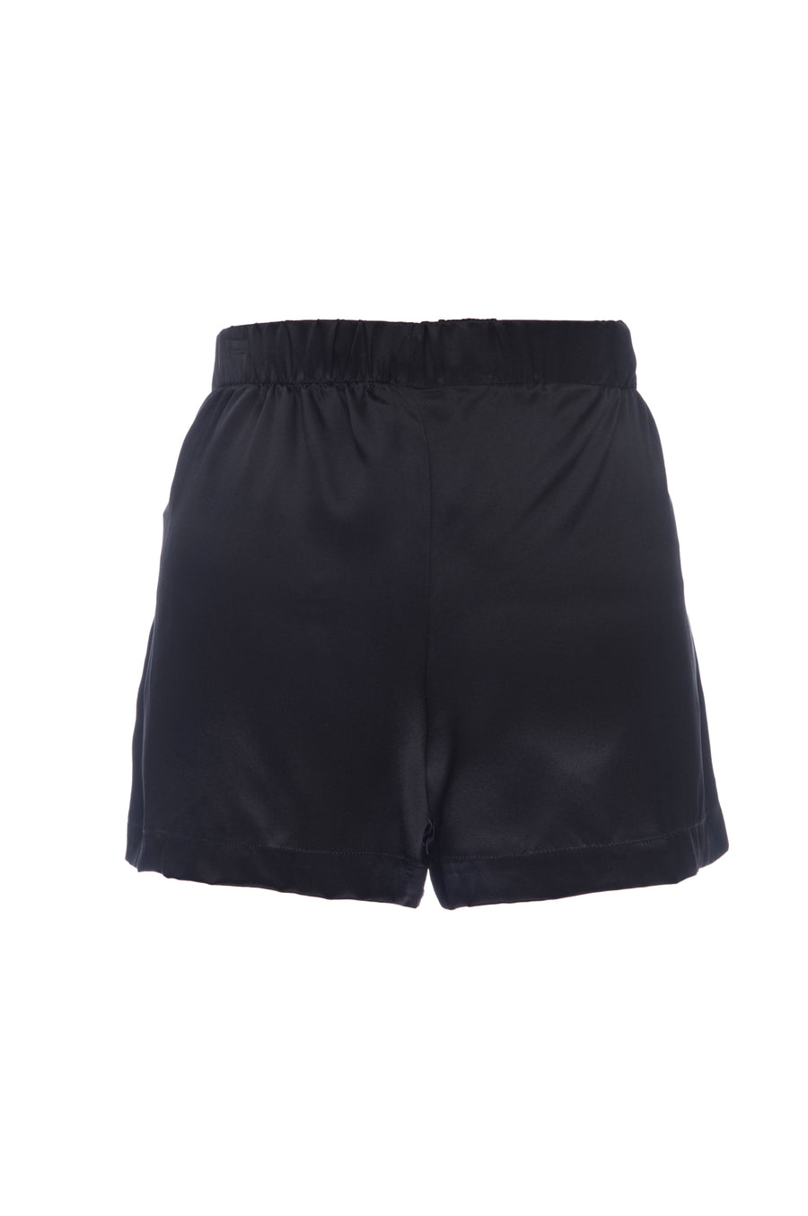 Silk Charmeuse Shorts: Black
