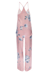 NEW: Silk Tank and Pant Set in 'Rose Gold Floral Print' Silk Charmeuse