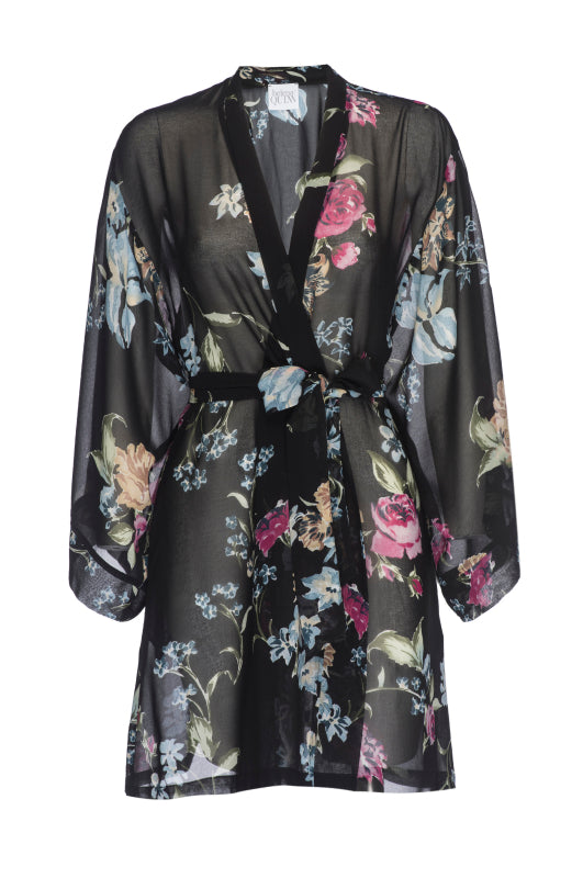 Sheer Dark Floral Robe