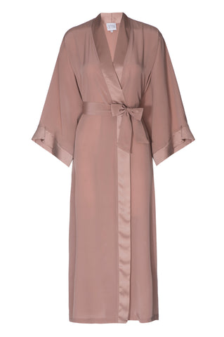 NEW: 'Tuscan Peach' Silk Robe- FULL LENGTH