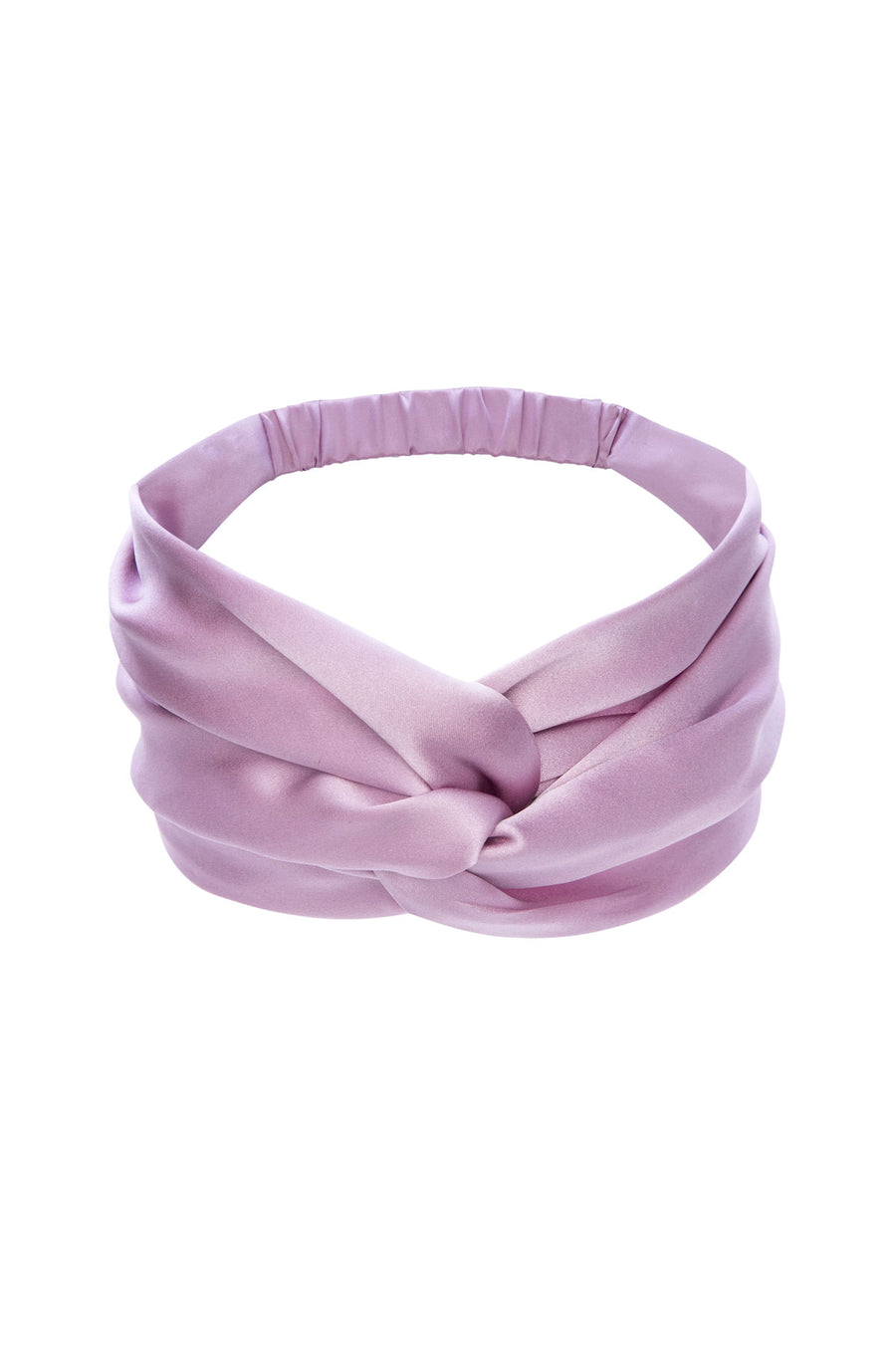 Silk Charmeuse 'Lovey' Headband: Orchid Pink