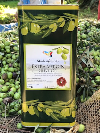 Made of Sicily Organic Extra Virgin Olive Oil - 4.5 Liters (152 FL OZ)