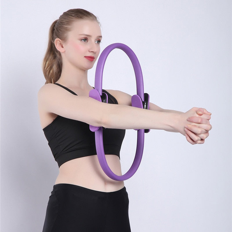 Quality Pilates Yoga Ring Magic Wrap slimming bodybuilding workout.