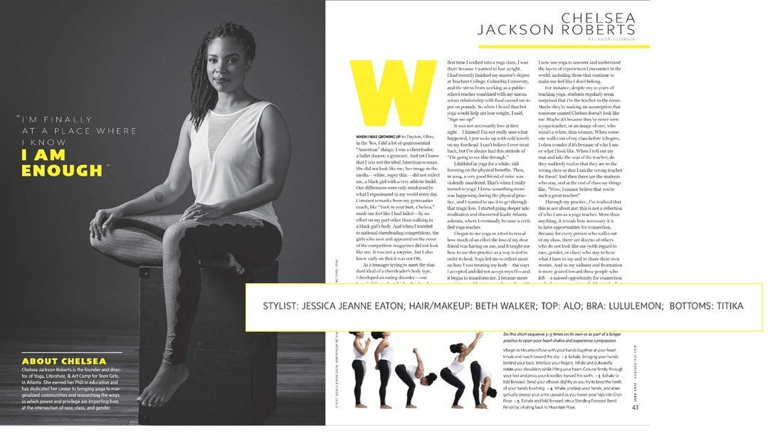 Yoga Journal feature of Chelsea Jackson Roberts