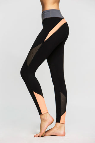 Lucky High Waist Legging - Black Leopard