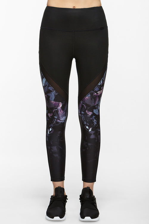 Due Graphic Cropped Leggings