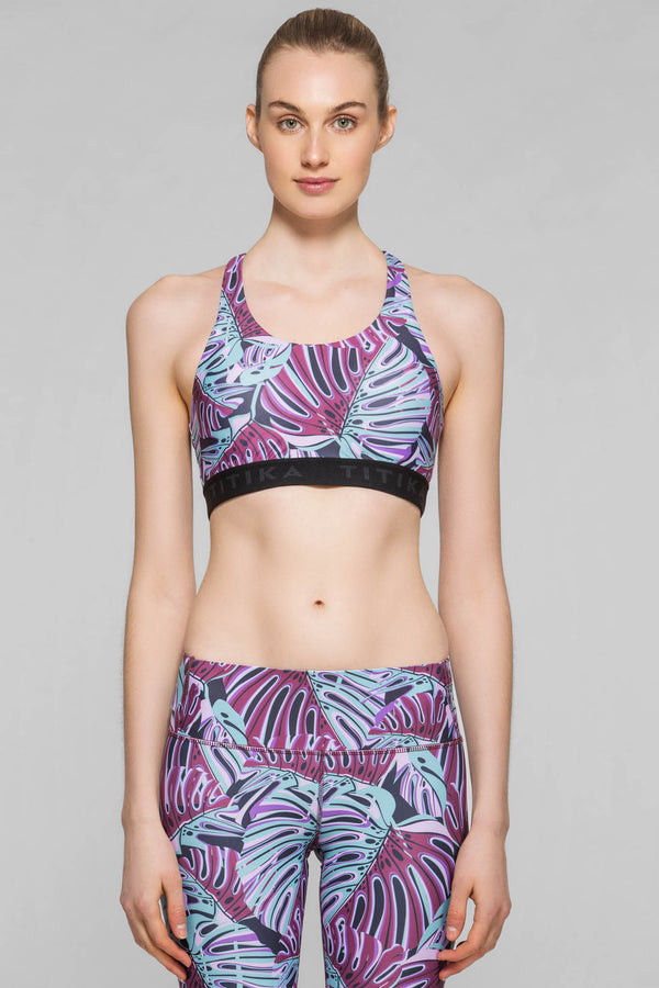 Monstera Graphic Medium Impact Bra