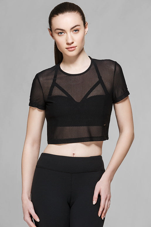 Elisabeth Mesh Top, Short Sleeve Tops, TITIKA GO-TO