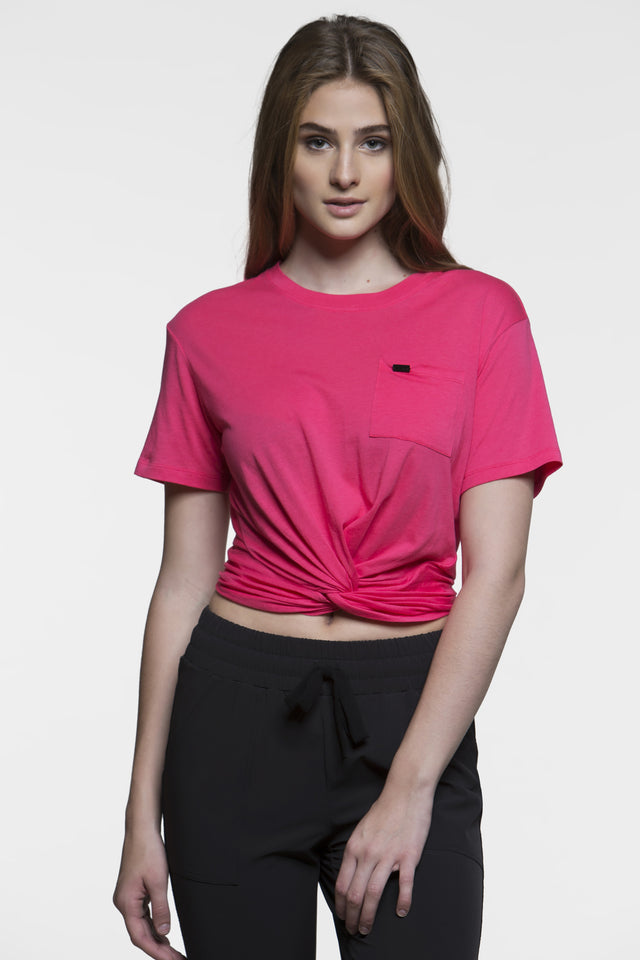 Twist Crop Tee, Short Sleeve Tops, TITIKA GO-TO