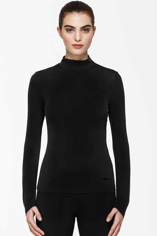 Basque Long Sleeve Top, Long Sleeve Tops, TITIKA BLACK