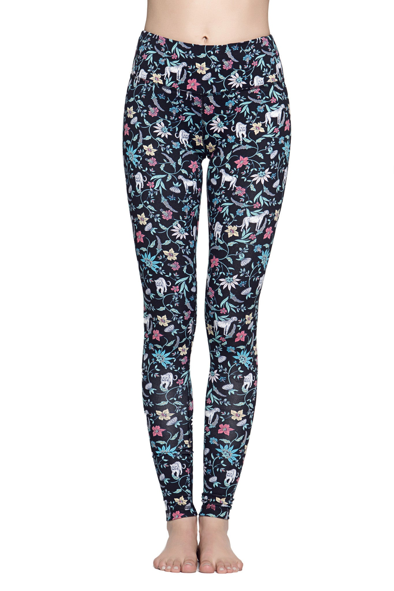 Lucky Graphic Legging - Cheetah Floral
