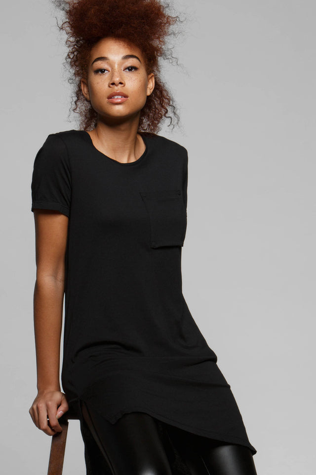 Zane Long Line Pocket Tee, Short Sleeve Tops, TITIKA GO-TO