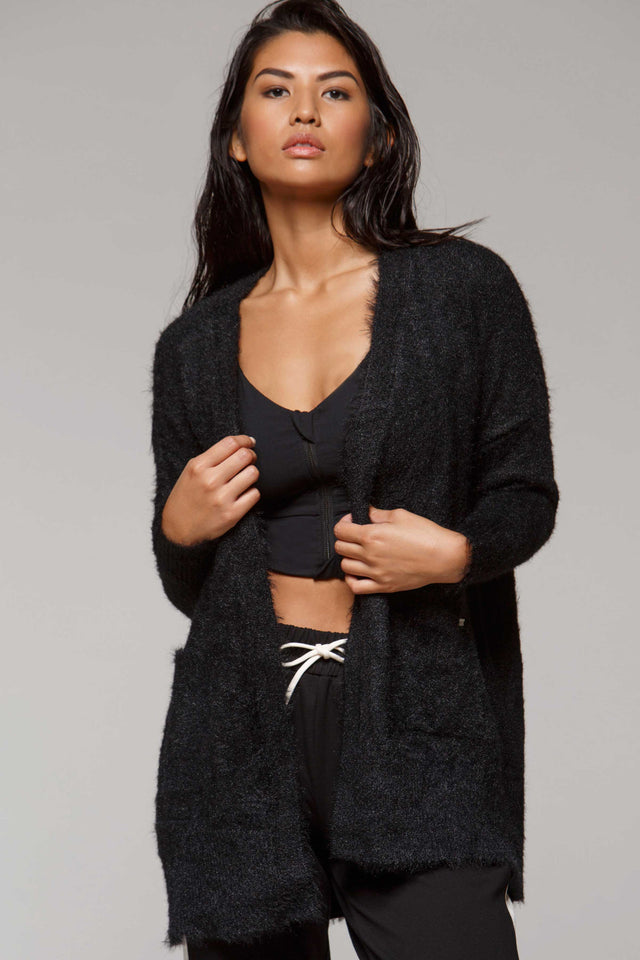 Deodar Vegan Fur Sweater, Sweaters, TITIKA BLACK