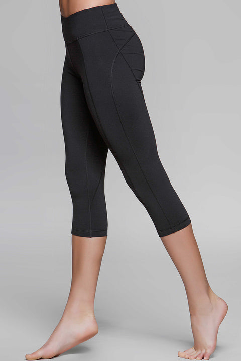Diva Black Crop Legging, Crops, TITIKA ACTIVE