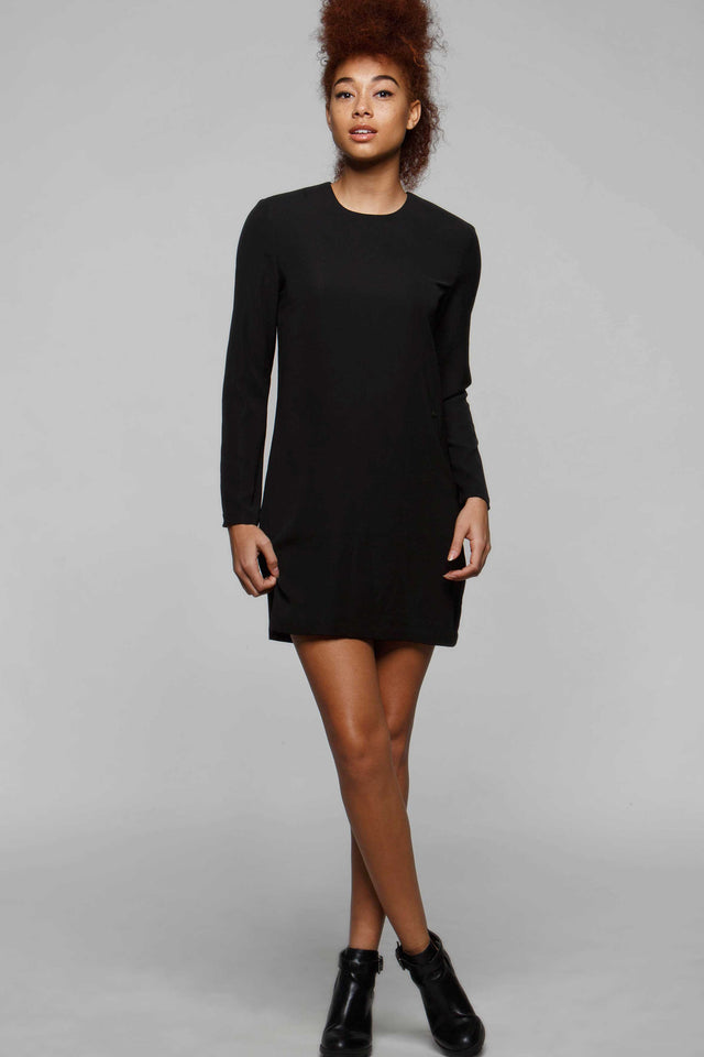 Audrey Long Sleeve Dress, Dresses, TITIKA BLACK