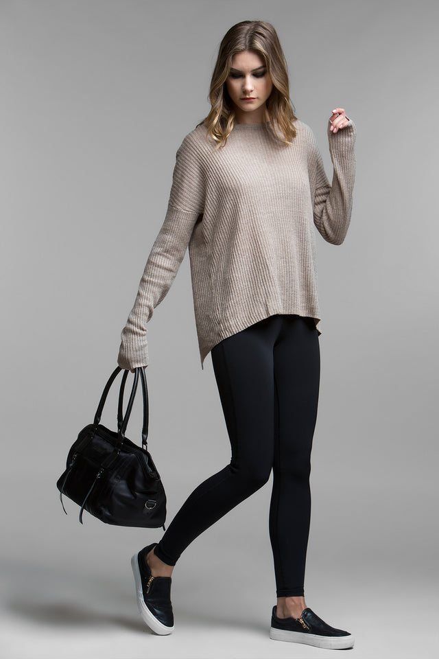 Josephine Lace-Up Sweater, Sweaters, TITIKA BLACK