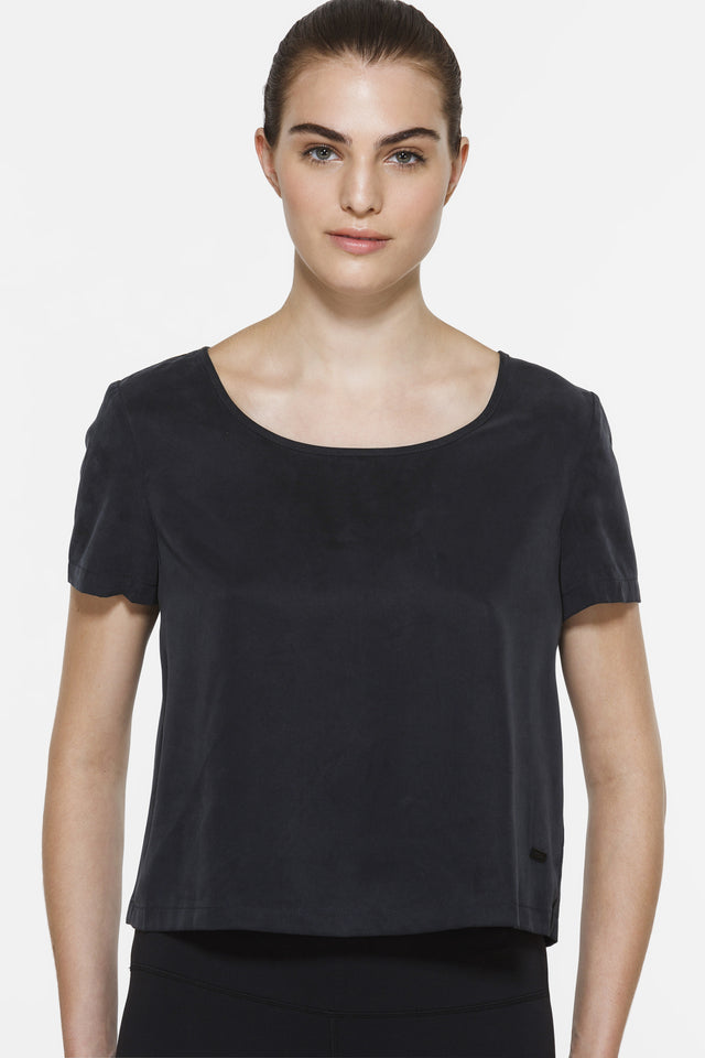 Marsha Tie Back Top, Short Sleeve Tops, TITIKA BLACK