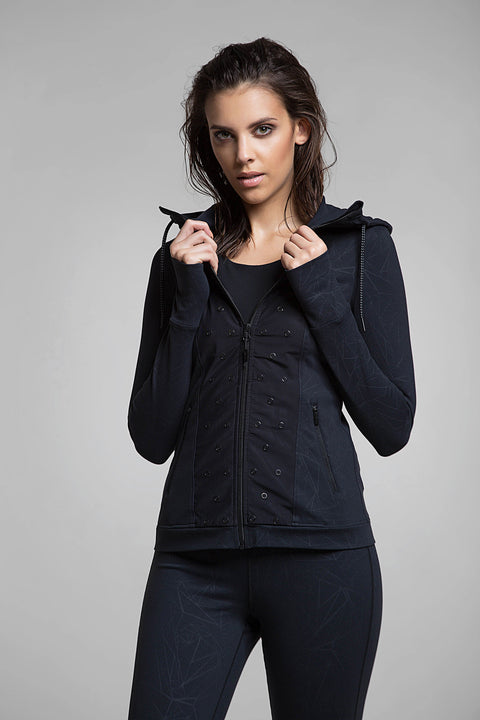 Stud Performance Zip-Up Hoodie, Sweatshirts, TITIKA ACTIVE