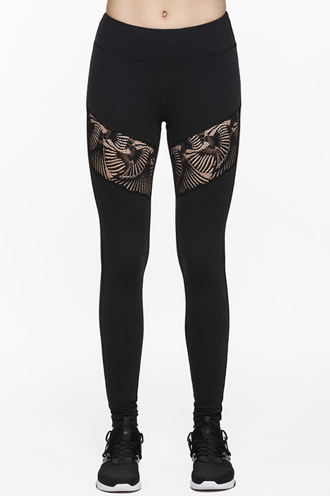 Thorn II Lace Cut-Out Legging, Leggings, TITIKA BLACK