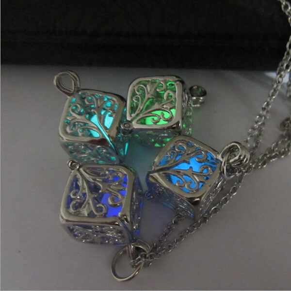 Fairy Fire Glow Magic Wishing Box Pendant Necklace