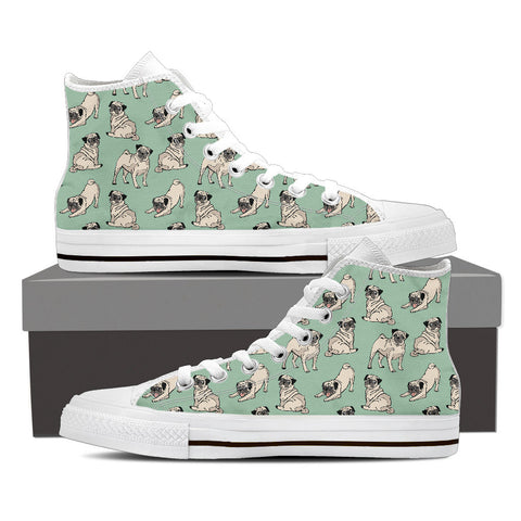 Ladies Custom Pug Shoes