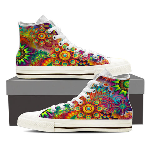 Abstract Flower Sneakers