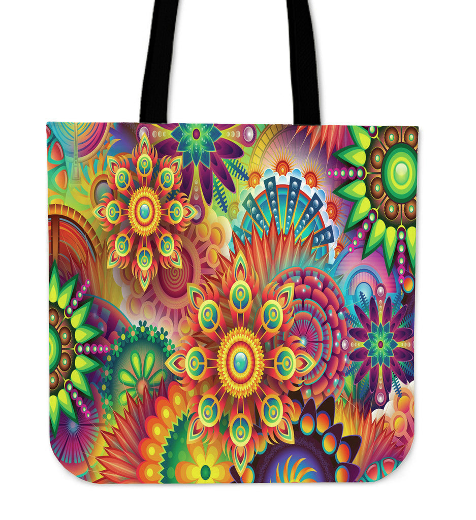Abstract Flowers Totebag