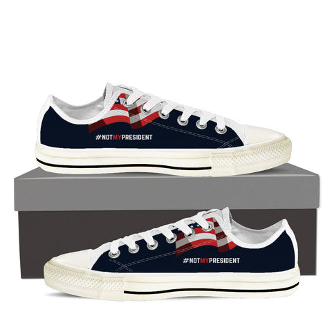 Not My President Low Top Canvas Sneaker