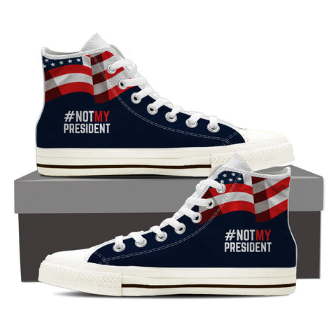 Not My President High Top Canvas Sneaker