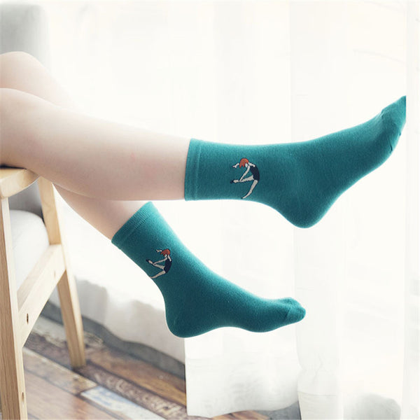 Harajuku Women Cartoon Long  Novelty Socks