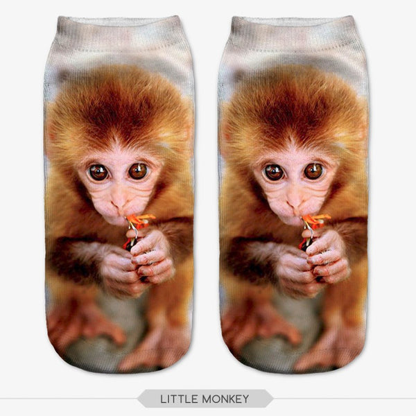 3D Print Animal Unisex Low Cut Ankle Socks