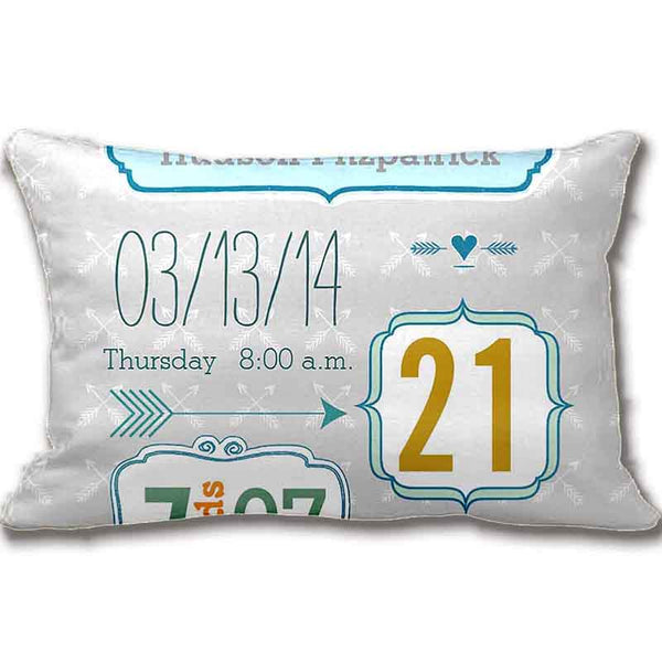 Baby's Personalized Announcement Pillow Cover/Case