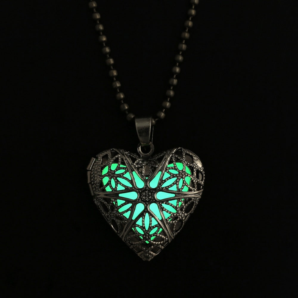 Fairy Fire Magic Glow Heart Necklace Pendant