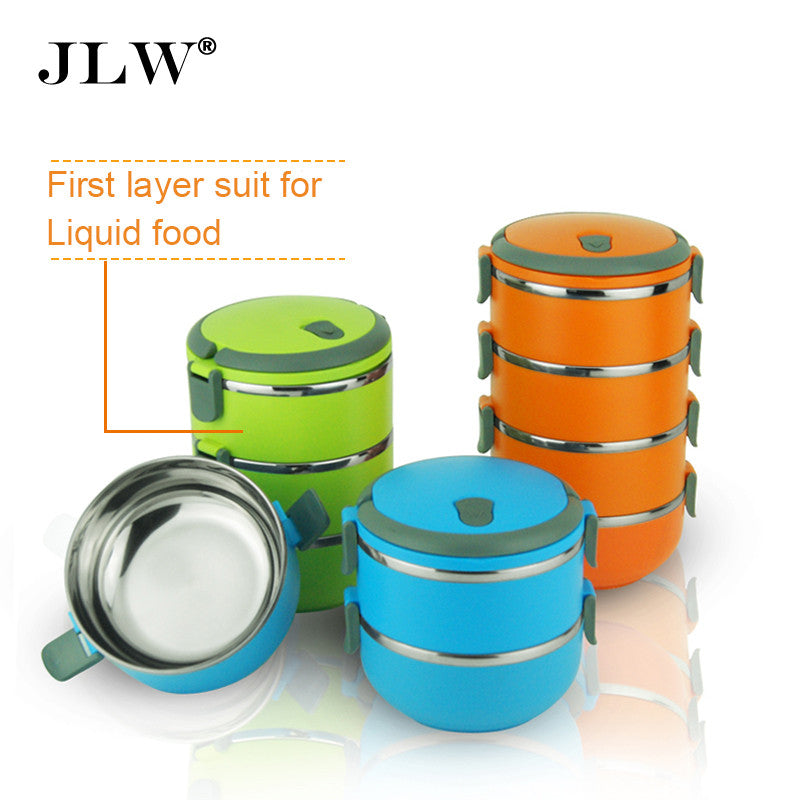 ... High Quality Multi-layer Bento Lunch Box Thermal Stainless Steel Bowls  Lunchbox ... 9e40618d4972