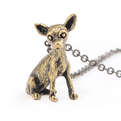 Cute Realistic Chihuahua Necklace - Free Shipping