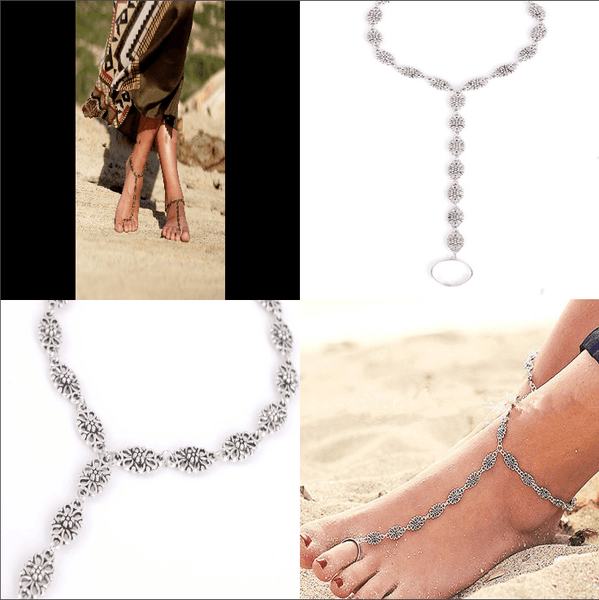 Women Silver Ankle Chain Sexy Anklet - Lot 33