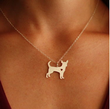 Stylish Chihuahua Gold or Silver Plated Necklace - Free Offer