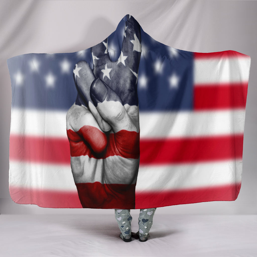 American Peace - Hooded Blanket
