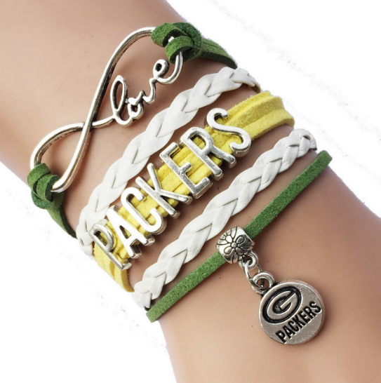 Love Green Bay Packers Infinity Bracelet