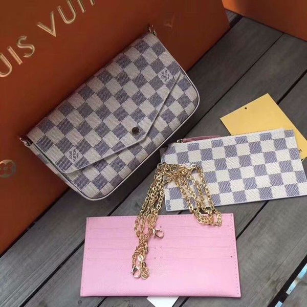 LV Women hree-Piece Leather Shoulder Bag