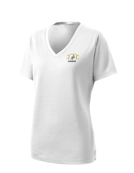 Ladies Performance Moisture Wicking V Neck T