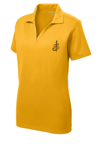Ladies Moisture Wicking Solid Polo Shirt
